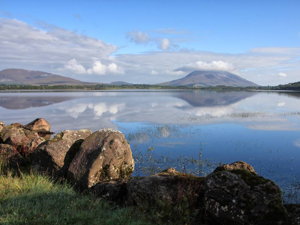 photo of Connemara lakes on a sunny day